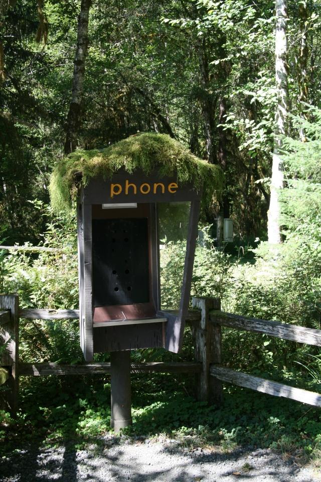 Telefooncel met pruik
