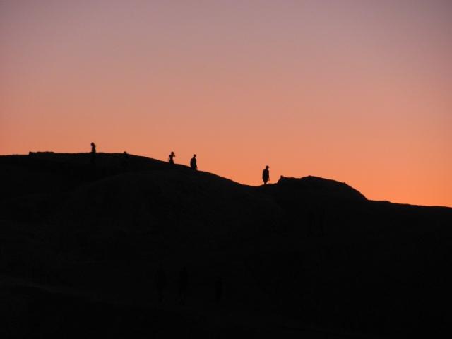 Zonsondergang bij Zabriskie Point