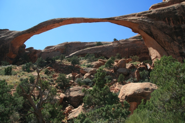 Landscape Arch, boegbeeld van Arches National Park